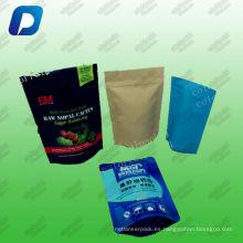 El bolso de empaquetado del bocado empaqueta al vacío el bolso de los bolsos de la categoría alimenticia / el proveedor resellable de la bolsa para arriba proveedor