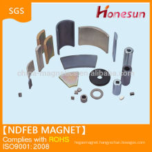 China neodymium magnet arc segment magnet for dc motor generator