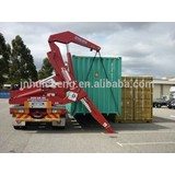 Good Price New type container 3 axle flatbed side lift self-unloading semi trailer                                                                                                         Supplier's Choice