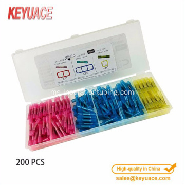 200pcs Insulated Heat Shrink Butt Connectors anti-karat