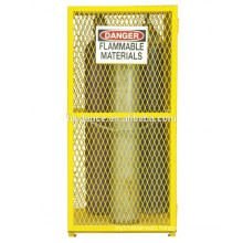 gas cylinder tank storage mesh cages design metal cages yellow color