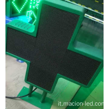 Display a LED P6 Double Side Cross per farmacia
