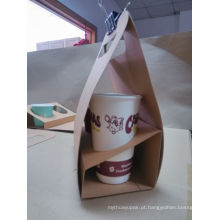Caixa afastada Eco-Amigável de Takeway do café do produto comestível da caixa do alimento do papel