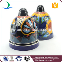 YSfp0006 Unique bell shape decorative garden stone flower pot for home