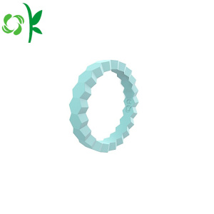 Fashion Design Stapelbar Silikon Bröllop Ring Soft Ring