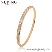 52129 Xuping bijoux Chine gros plaqué or style simple mode femmes bracelet