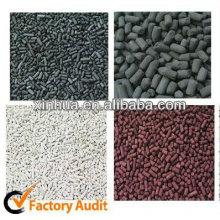 Alcalino Impregnado de remoção de mercúrio absorção filtro de carvão ativado