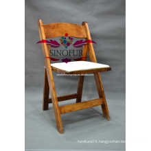 Out door event wooden folding chair