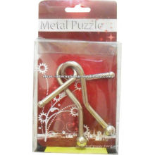 3D Metal Puzzle With Rings Solution