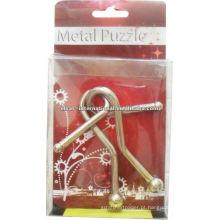 Solução de enigma de metal 3D com anéis