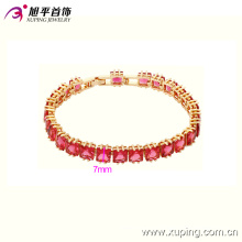 Мода 18k позолоченный элегантный Женский Кристалл ювелирные изделия Браслет 74014