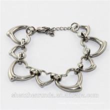 2014 fashion heart stainless steel bracelet jewelry