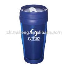 Pared doble de estilo clásico personalizar vaso plástico con papel del parte movible
