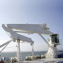 Grue hydraulique de bateau de grue de plate-forme de pont
