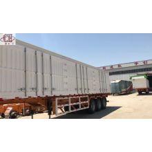 Detachable box cargo Van semi trailer