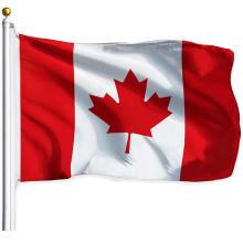 Venda por atacado de seda impressão poliéster Canadá Banner 3X5