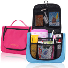 600d Polyester Metal Hook Promotional Cosmetic Wash Toiletry Bag (YKY7528)