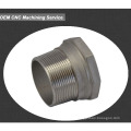 aluminum cnc machined parts metal sleeve bushing grooved bushing