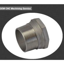 Alumínio cnc peças usinadas manga de metal bucha bucha ranhurada