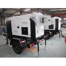 Модификация генератора дизельного генератора мощностью 30 кВт с 3 колесами