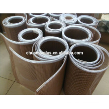 ptf teflon flat molded skived open mesh, food processing dryer teflon/ptfe mesh belt