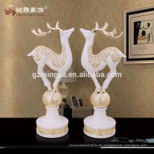 Alibaba seguro decorativo moderno novo estilo ouro prata cervo resina cervo animal estátua