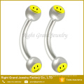 316 L Surgical Steel Eyebrow Body Piercing Barbell With Logo