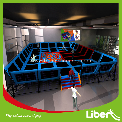 China Kids Enclosed Spring Trampoline Place Manufacturers