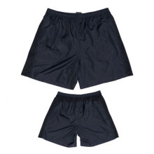 Yj-3012 Mens Black Lightweight Summer Nylon Taslon Shorts