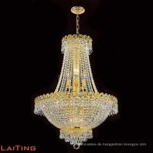 LAITING Dia 50 cm Klassische Gold Vintage Retro Luxus Kristall Kronleuchter Italienische Hängende Esszimmer Lampe LT-71013