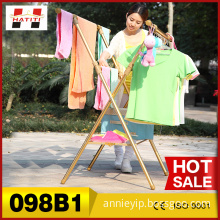 Delicate foldable X shape clothing airer 098B1