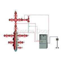 Cabeça de poço de óleo e gás de alta pressão e sistema automático de controle de segurança