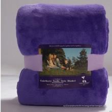 100% poliéster liso súper suave de peso ligero micro manta de mantas