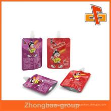 Конкурентоспособная цена stand up жидкостный мешок, пластичный мешок сопла сделанный в Кита