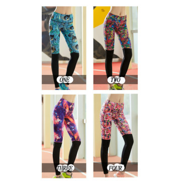 women gym leggings stretch fabric for yoga tights