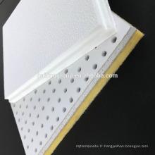 Panneau de plafond acoustique en fibre de verre haute densité