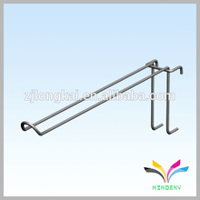 Strong supermarket wall display wire black metal hanging hooks