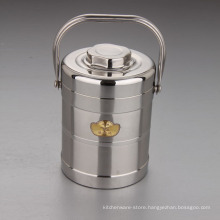 Stainless Steel 4 Layers Portable Food Warmer Container /Heating Lunch Tiffin Box Keep Food Hot