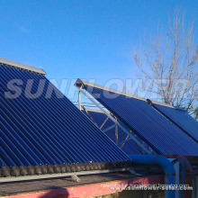 pressured solar thermal panel pipe with heating