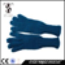 2014 hot design dark blue acrylic wholesale winter gloves