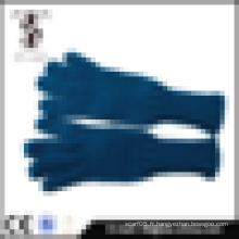 2014 hot design bleu foncé acrylique gants d'hiver en gros