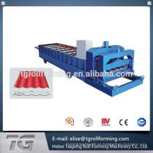 Certificado CE Azulejos de azulejos de techos Cold Roll formando la máquina hecha en China