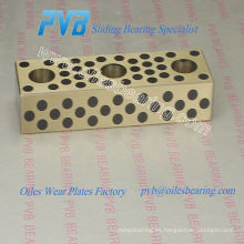 Placas de grafito de carbono oiles, placas de desgaste de bronce grafito, placa de deslizamiento de bronce grafito UPW