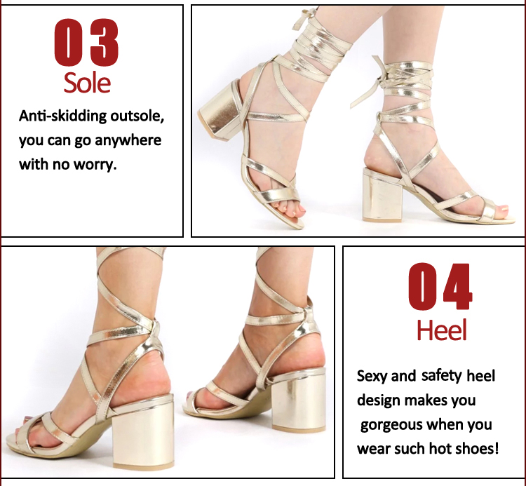mid heel strap lace up sexy sandals