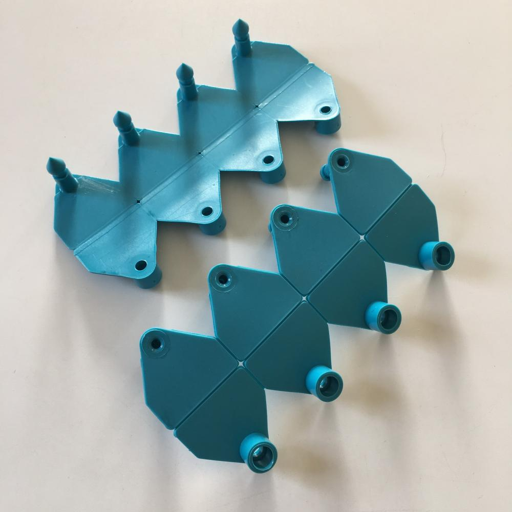 blue animal ear tag Laser printing