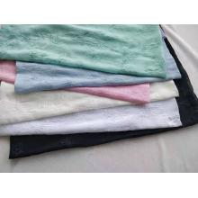 Tissu plissé en mousseline 100% polyester