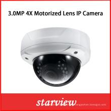 Objectif motorisé 3MP 4X Caméra IP réseau panoramique à 180 degrés