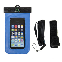 New Sealed PVC Waterproof Mobile Phone Case with Compass (YKY7259)