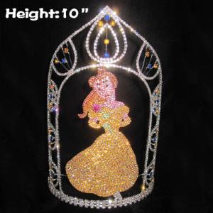 Coronas de princesa de cristal únicas con diamantes de colores