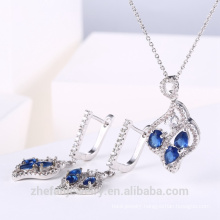 Wedding fashion jewelry set dubai bridal jewelry cubic zircon